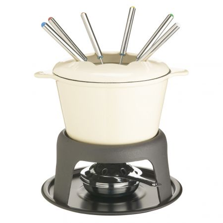 Master Class Cast Iron Enamelled Fondue Set