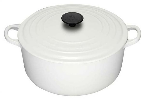 Le Creuset 22cm Round Cocotte - White