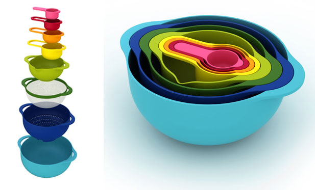 Set of 8 Nesting Bowls by Joseph Joseph 