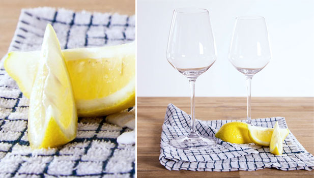 Lemons can be used to make glassware glisten