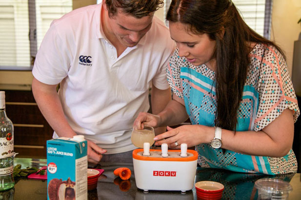 Bride diaries couple making Zoku pops