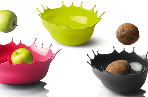 Silicone Drop Splash Fruit bowl by Menu