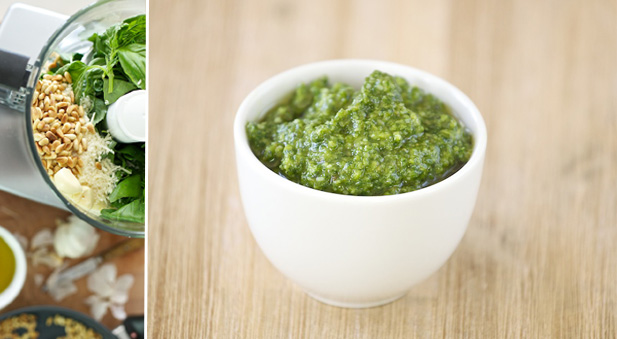 job of grinding pesto rather presto here s how to make basil pesto in ...