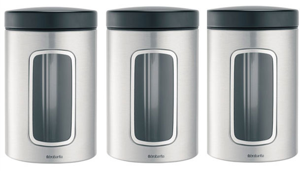 Window canisters matt by Brabantia