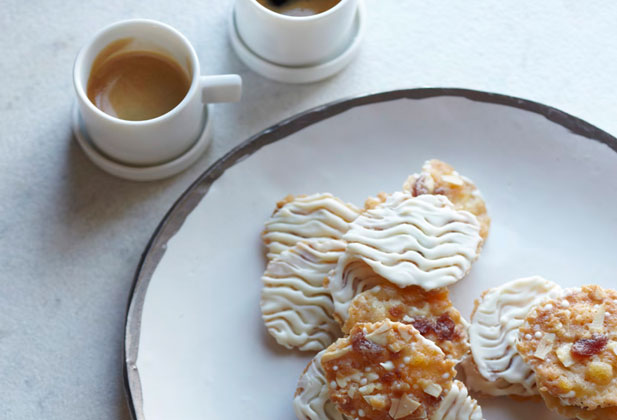 White chocolate florentines from Annie Bell's Baking Bible