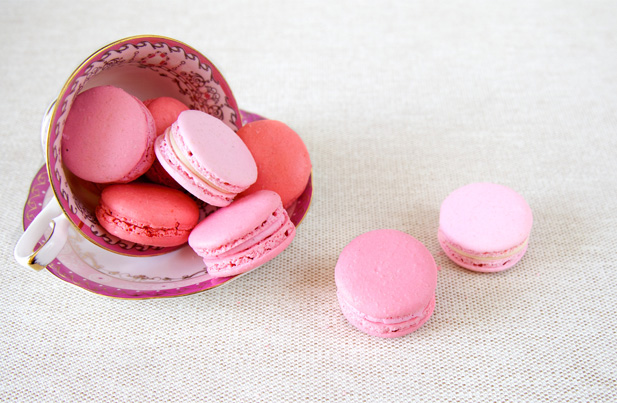 Macarons in pretty pink