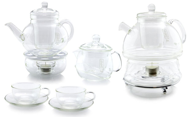 Glass tea range by Nigiro
