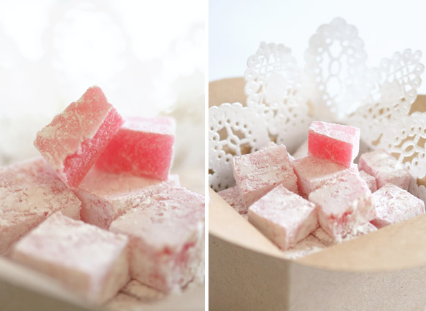 Turkish delight with rose water essence