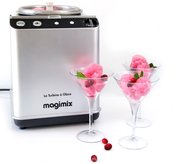 Cosmopolitan sorbet made in the Magimix