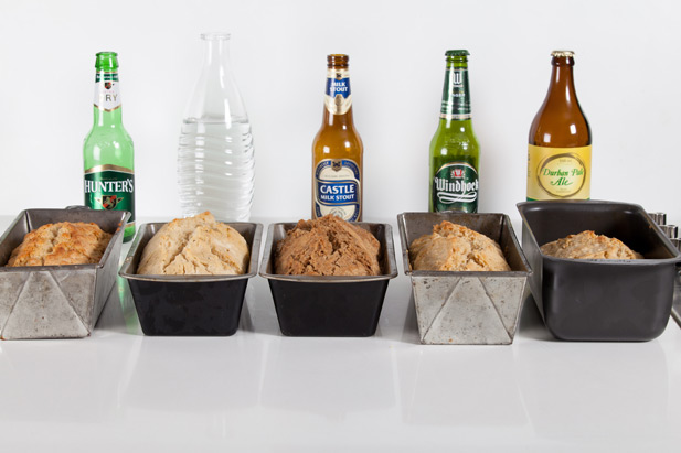 Different brews for our beer bread test