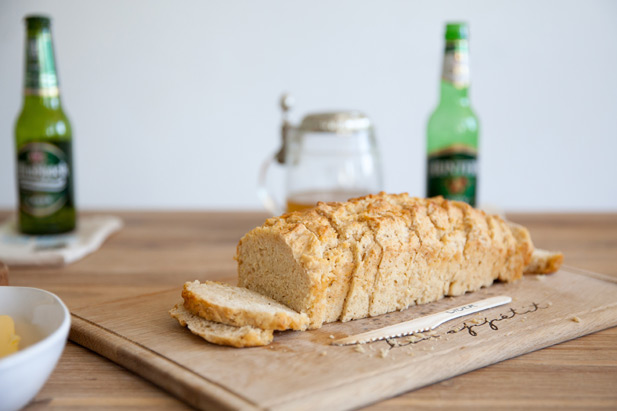 Beer bread mixed with cider