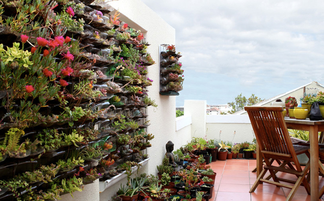 Owngrown eco friendly and sustainable urban gardens for Balcony vertical garden