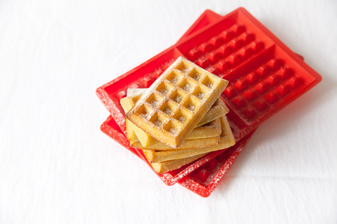 waffles made in the Lékué Waffle Moulds
