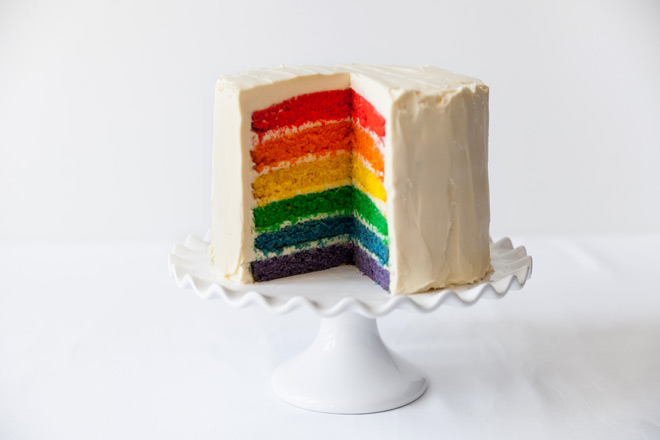 how to make homemade rainbow cake
