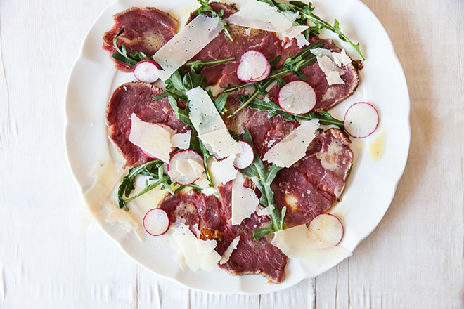 Beef Carpaccio With Orange-Olive Salsa And Shaved Cheese Recipe ...