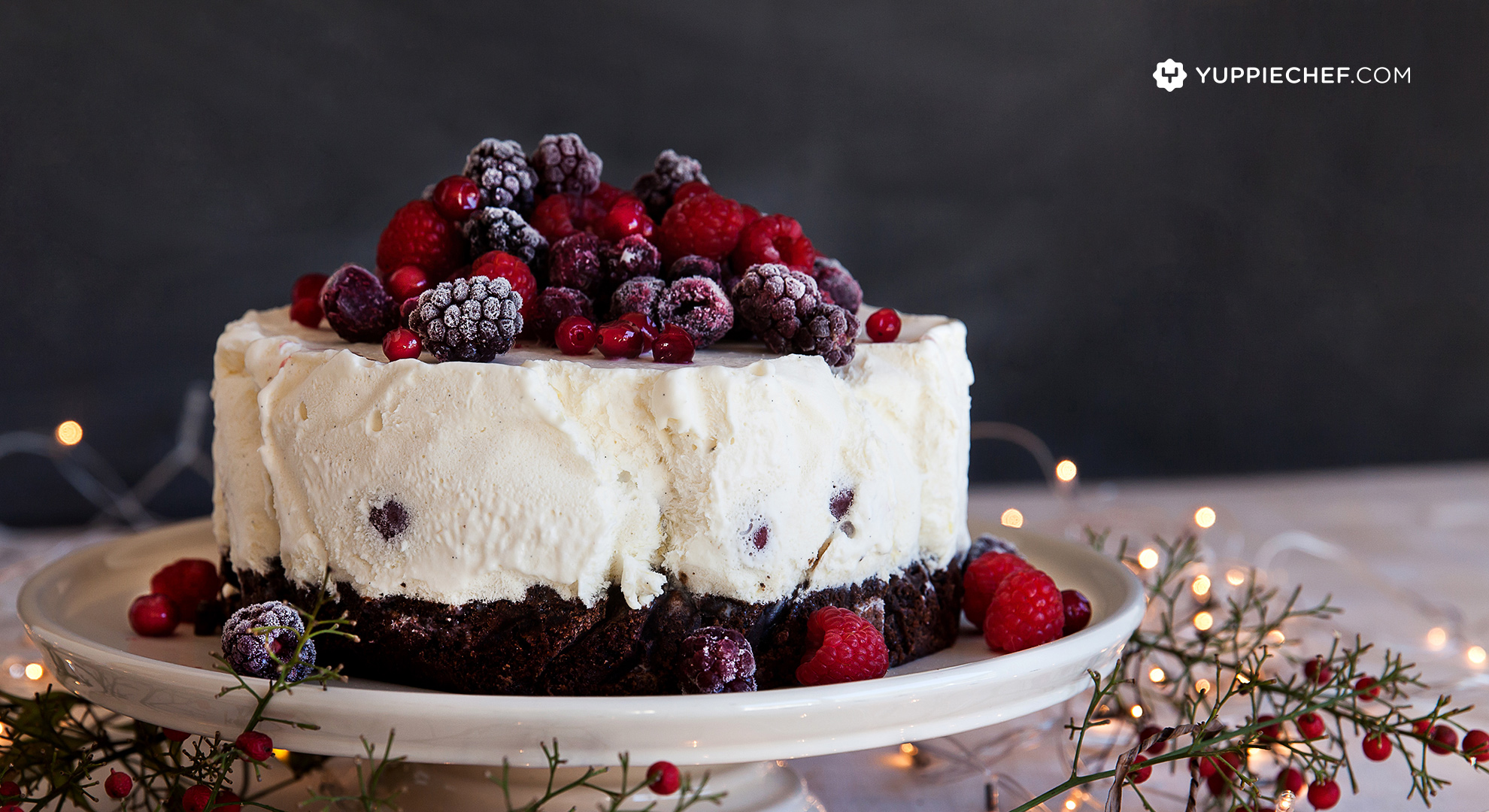 A feast for the eyes: black forest ice cream cake