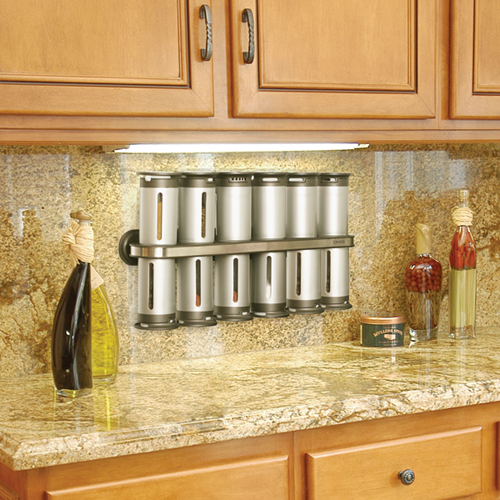 Coming In At Number Nine Is The Zero Gravity Magnetic Spice Rack Once Mounted On Wall Each Canister Magnetically Attaches To Bottom Or