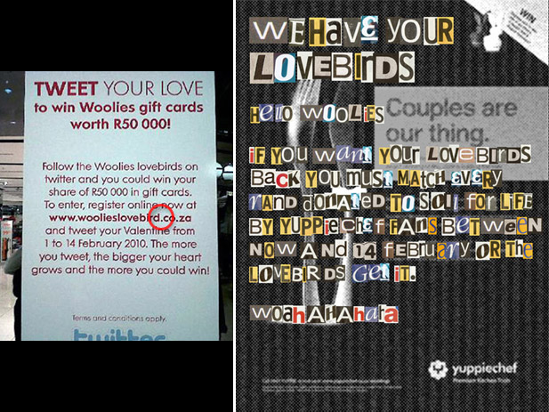 Woolies Lovebirds Ransom Note