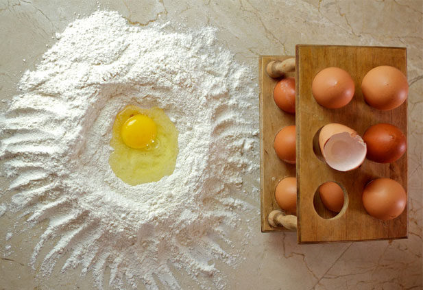 ingredients pasta dough