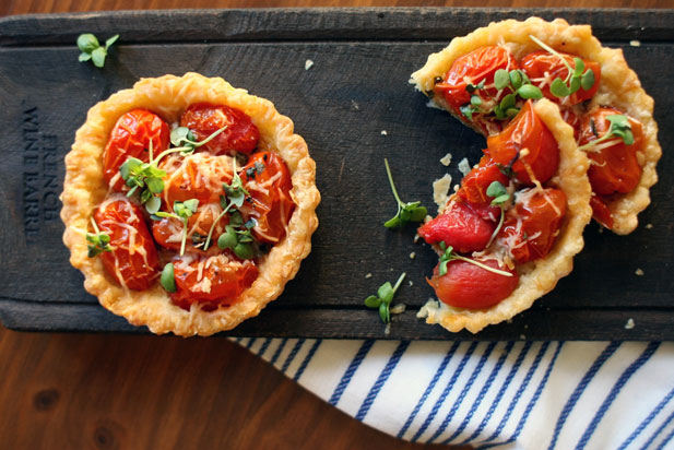 Summer Entertaining: Tomato Tartlets - Spatula Magazine