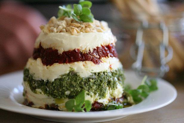 Entertaining: Cream Cheese, Sun-dried Tomato & Greek Pesto Layered Dip ...